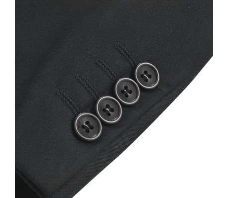 vidaXL Blazer pour hommes Taille 50 Noir[3/6]