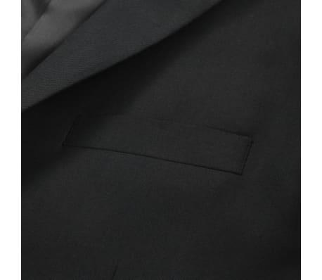 vidaXL Blazer pour hommes Taille 50 Noir[4/6]