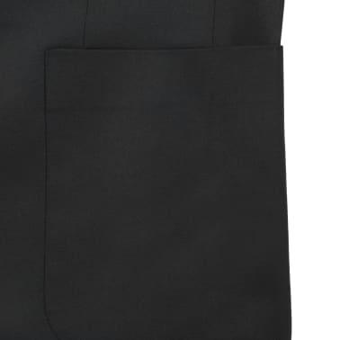 vidaXL Blazer pour hommes Taille 50 Noir[5/6]