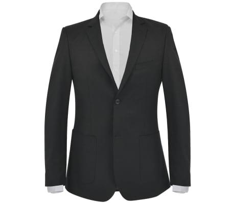 vidaXL Blazer pour hommes Taille 52 Noir[1/6]