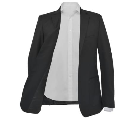 vidaXL Sacou business bărbați, mărime 52, negru[2/6]