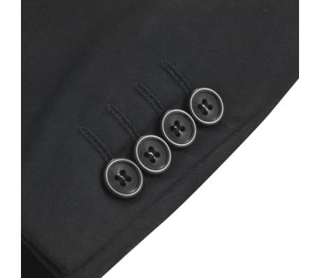 vidaXL Sacou business bărbați, mărime 52, negru[3/6]