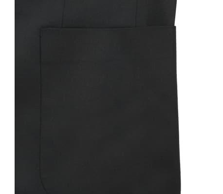 vidaXL Blazer pour hommes Taille 52 Noir[5/6]