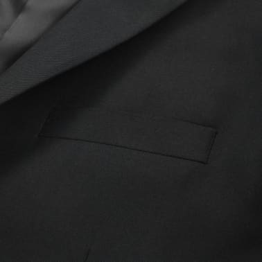 vidaXL Blazer pour hommes Taille 52 Noir[4/6]
