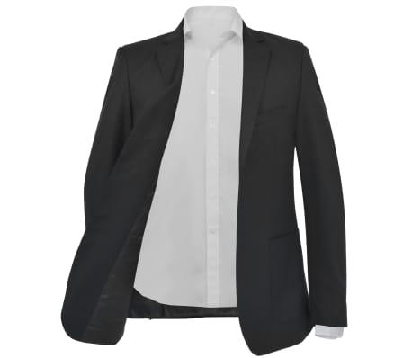 vidaXL Blazer pour hommes Taille 54 Noir[2/6]
