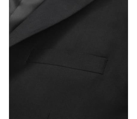 vidaXL Blazer pour hommes Taille 54 Noir[4/6]