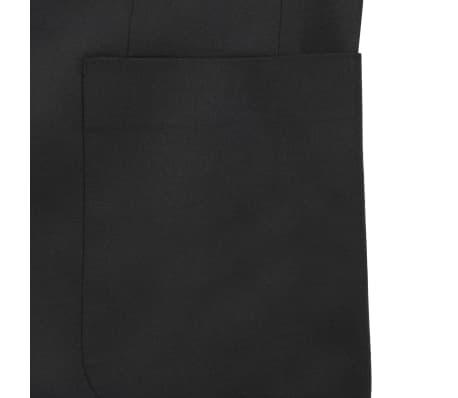 vidaXL Blazer pour hommes Taille 54 Noir[5/6]