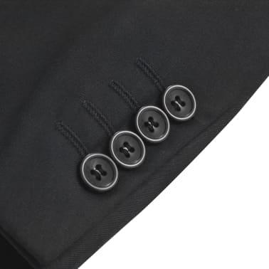 vidaXL Blazer pour hommes Taille 54 Noir[3/6]