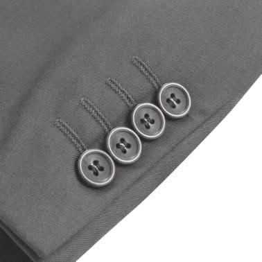 vidaXL Sacou business bărbați, mărime 46, antracit[3/6]