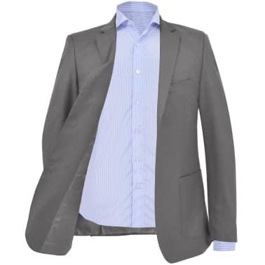 vidaXL Blazer pour hommes Taille 54 Anthracite[2/6]