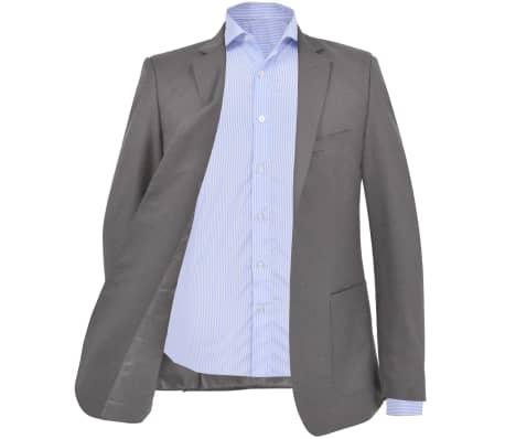 vidaXL Blazer pour hommes Taille 56 Anthracite[2/6]