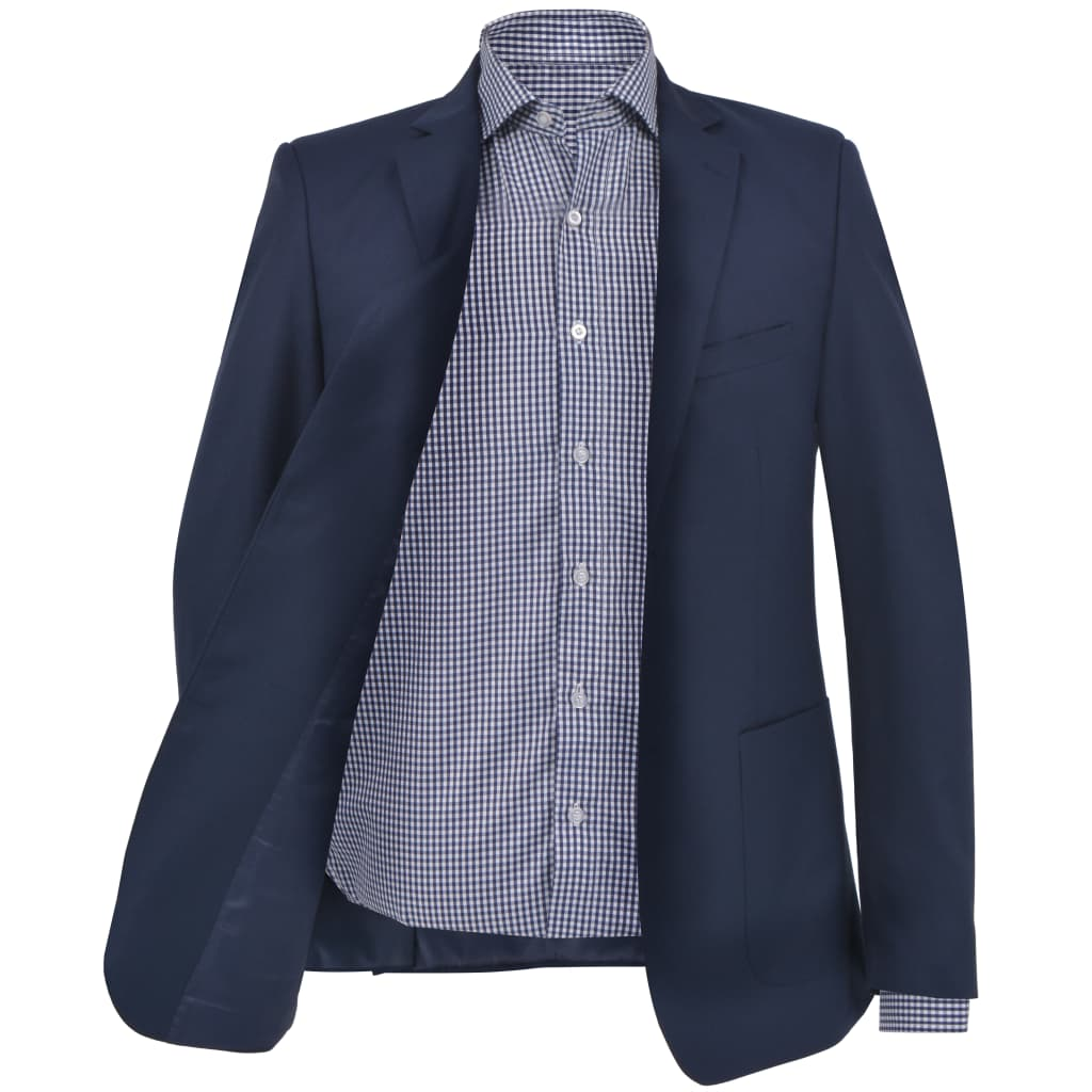vidaXL Pánské business sako, tmavě modré, vel. 52