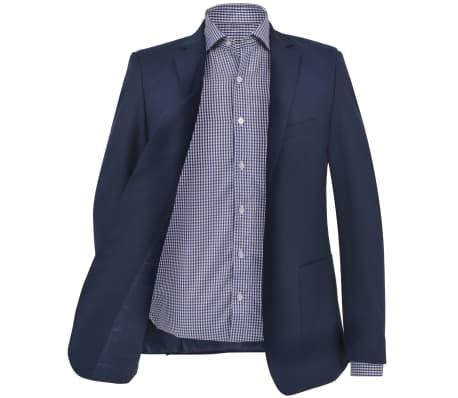 vidaXL Blazer pour hommes Taille 52 Bleu marine[2/6]