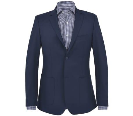 vidaXL Blazer pour hommes Taille 54 Bleu marine[1/6]