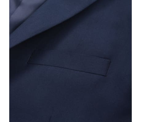 vidaXL Blazer pour hommes Taille 54 Bleu marine[4/6]