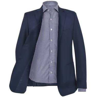 vidaXL Blazer pour hommes Taille 54 Bleu marine[2/6]