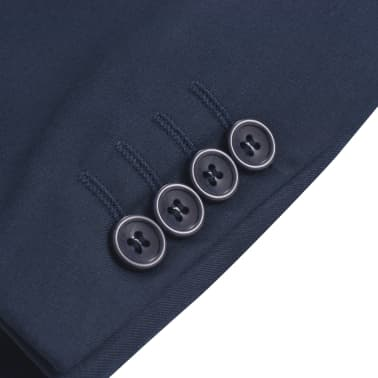 vidaXL Blazer pour hommes Taille 54 Bleu marine[3/6]