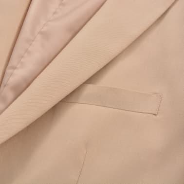 vidaXL Herren-Anzug 2-tlg. Größe 50 Beige[5/10]