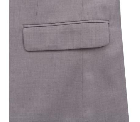 vidaXL Costume à 2 pièces pour hommes Taille 46 Gris clair[7/10]
