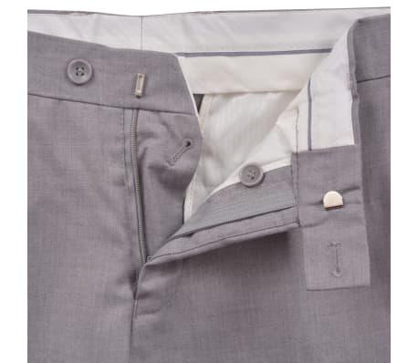 vidaXL Costume à 2 pièces pour hommes Taille 46 Gris clair[8/10]