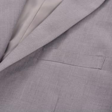 vidaXL Costume à 2 pièces pour hommes Taille 46 Gris clair[5/10]