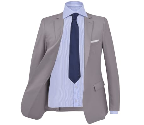 vidaXL Costum business bărbătesc, 2 piese, mărime 48, gri deschis[2/10]