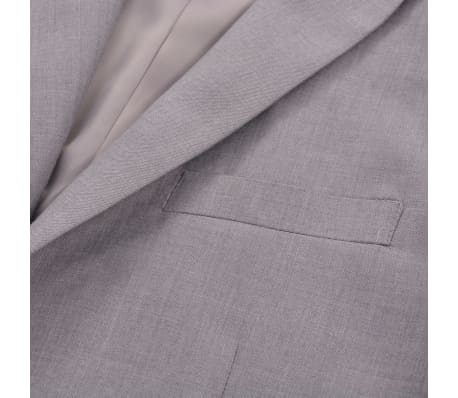 vidaXL Costume à 2 pièces pour hommes Taille 48 Gris clair[5/10]