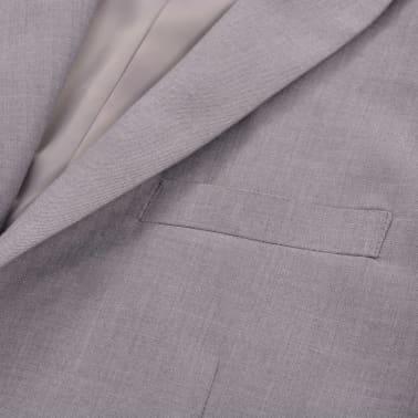 vidaXL Costum business bărbătesc, 2 piese, mărime 48, gri deschis[5/10]