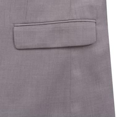 vidaXL Costume à 2 pièces pour hommes Taille 48 Gris clair[7/10]