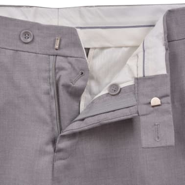 vidaXL Costum business bărbătesc, 2 piese, mărime 48, gri deschis[8/10]