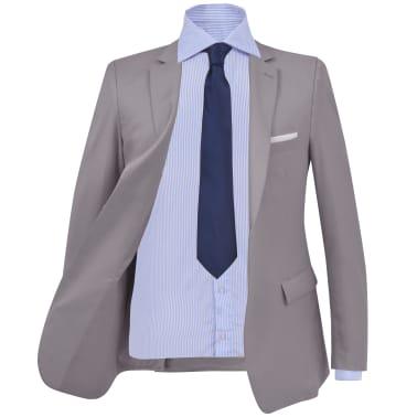 vidaXL Garnitur biznesowy męski, dwuczęściowy, rozmiar 54, jasnoszary[2/10]