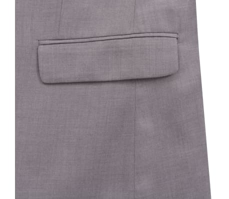 vidaXL Costume à 2 pièces pour hommes Taille 56 Gris clair[7/10]