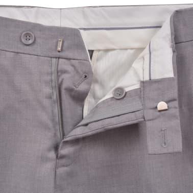vidaXL Costume à 2 pièces pour hommes Taille 56 Gris clair[8/10]