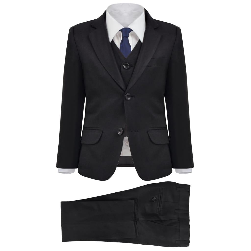 vidaXL Trojdílný večerní oblek pro děti, vel. 92/98, černý