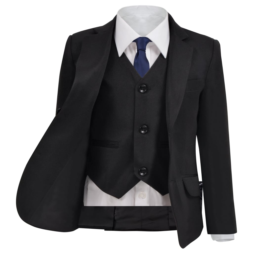 vidaXL Trojdílný večerní oblek pro děti, vel. 104/110, černý