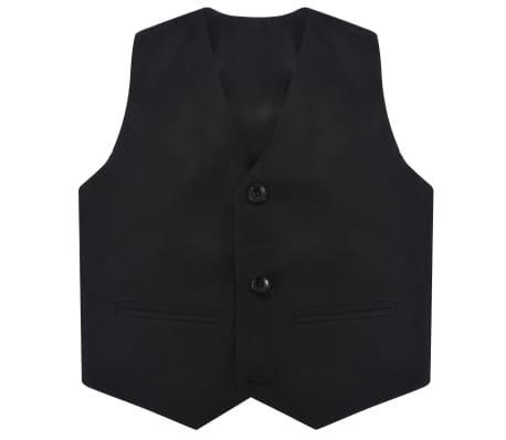 vidaXL jakkesæt til børn tre dele størrelse 104/110 sort[4/12]