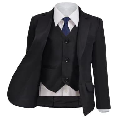 vidaXL Jungen-Anzug 3-tlg. Größe 140/146 Schwarz[2/12]