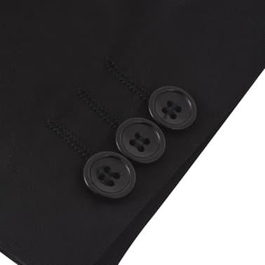 vidaXL Costum de ocazie pentru copii, 3 piese, mărime 140/146, negru[10/12]