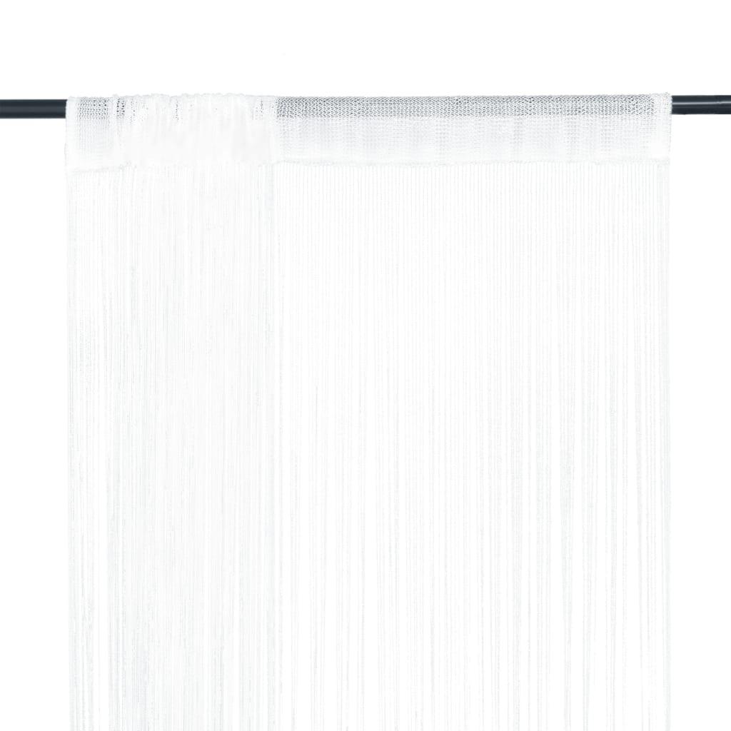 Provázkové záclony, 2 ks, 100x250 cm, bílá