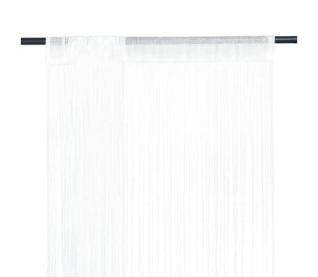 vidaXL Draperii franjuri, 2 buc., 100 x 250 cm, alb[1/4]