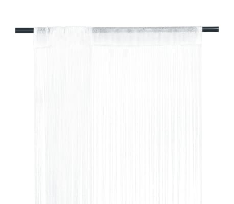 vidaXL Trådgardiner 2 stk 100x250 cm hvit