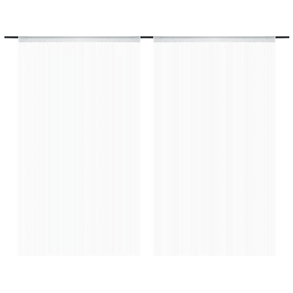 vidaXL Provázkové záclony, 2 ks, 100x250 cm, bílá
