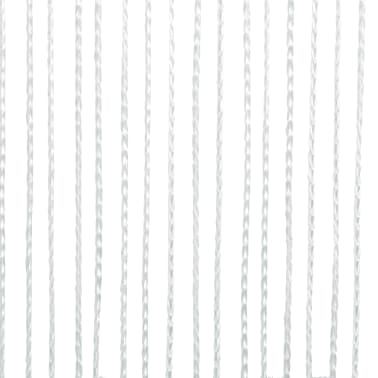 vidaXL Draperii franjuri, 2 buc., 100 x 250 cm, alb[3/4]