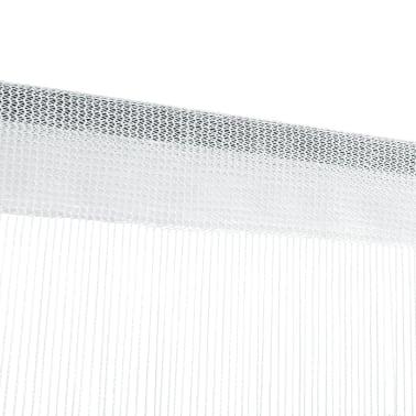 vidaXL Draperii franjuri, 2 buc., 100 x 250 cm, alb[4/4]