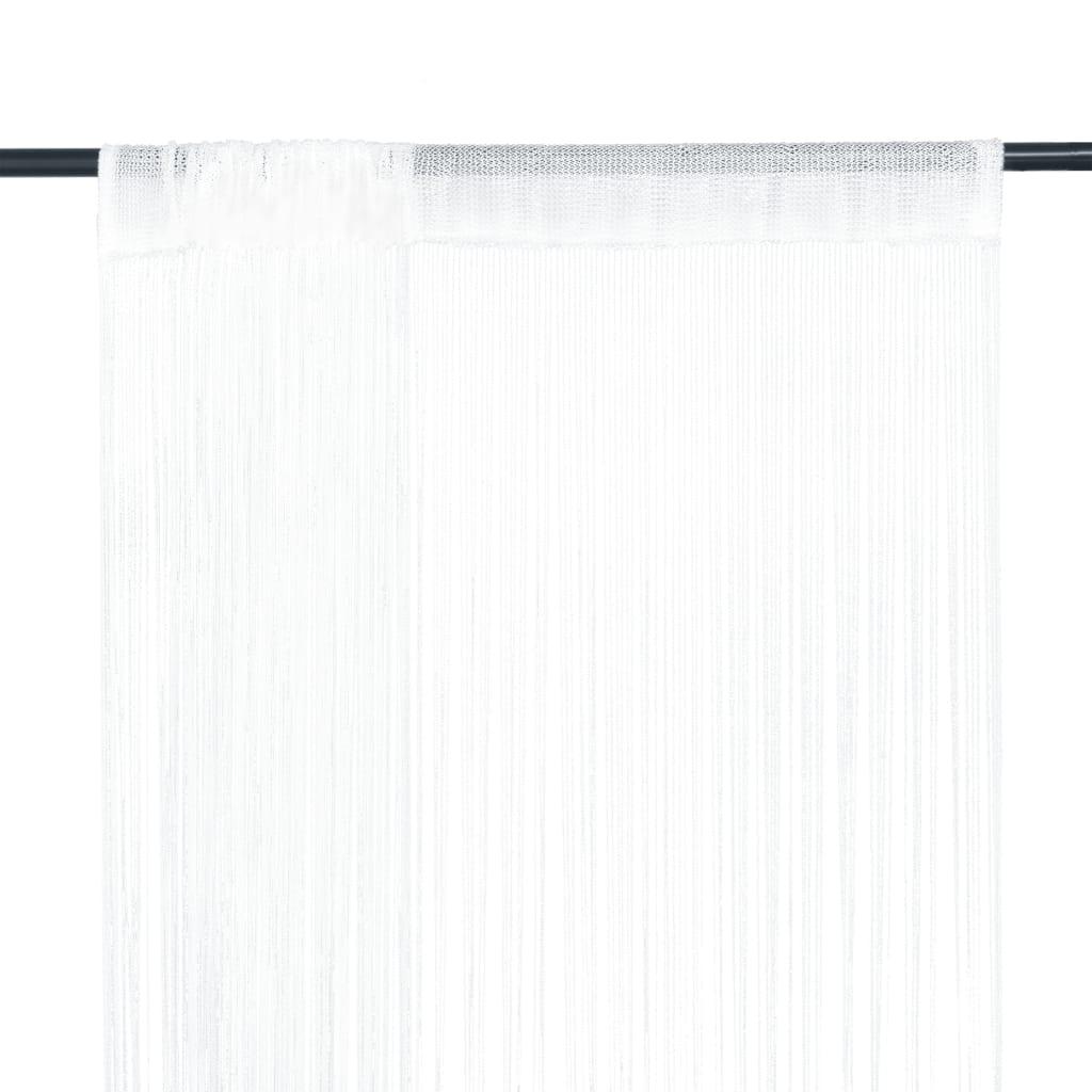 Provázkové záclony, 2 ks, 140x250 cm, bílá