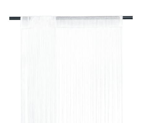 vidaXL trådgardiner 2 stk. 140 x 250 cm hvid[1/4]