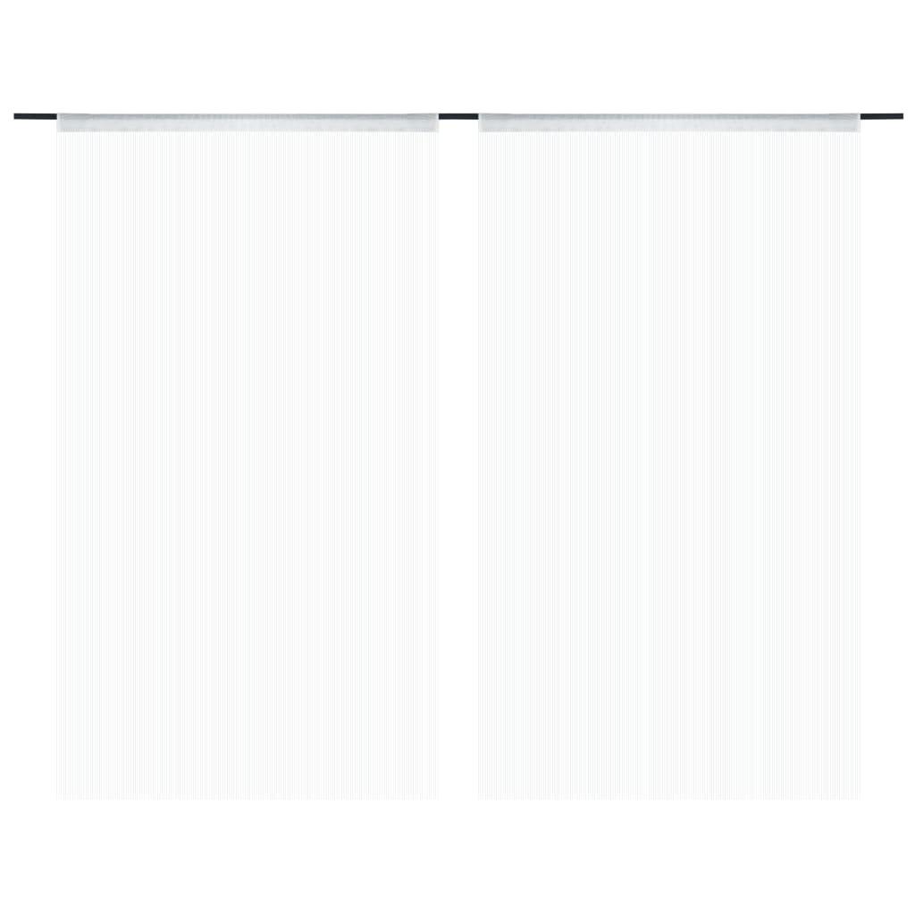 vidaXL Provázkové záclony, 2 ks, 140x250 cm, bílá