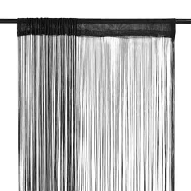 vidaXL 2 Pz Tende a Fili 100x250 cm Nere[1/4]