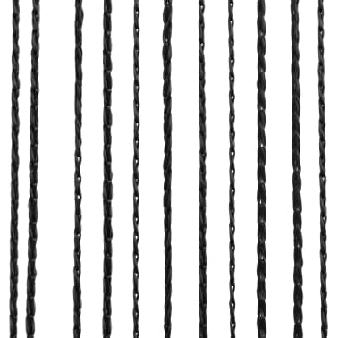 vidaXL 2 Pz Tende a Fili 100x250 cm Nere[4/4]
