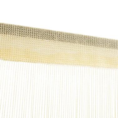 vidaXL Draperii cu franjuri, 2 buc., 140 x 250 cm, crem[3/4]